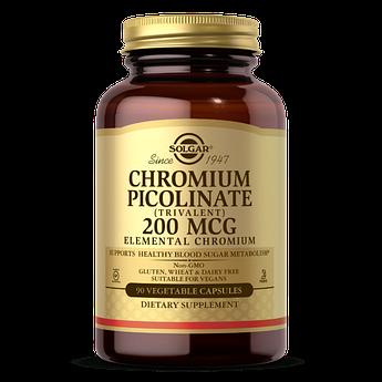 Хром пиколинат Solgar Chromium Picolinate 200 mcg (90 капс) солгар