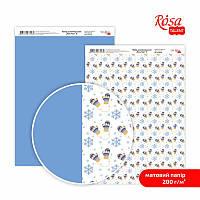 Бумага для дизайна A4 ROSA TALENT New Year 21х29,7см 200г/м2 двусторонняя матовая (4823100108188)