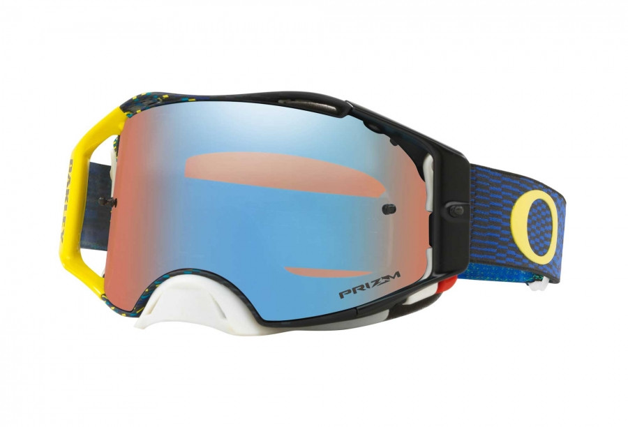 Кроссовые мотоочки Oakley Airbrake MX Equalizer Blue Yellow / Prizm