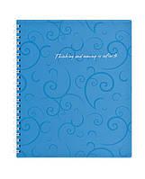 Записная книга блокнот Buromax Barocco В5 80 л клетка голубой (BM.2419-614)