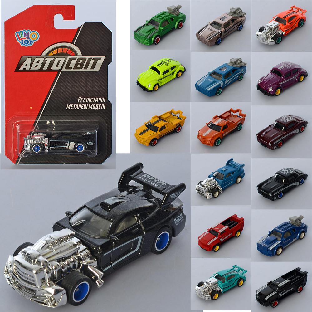 Машина AS-2766 АвтоСвіт, мет., гум. колеса, 16 видів, лист, 10,5-16,5-3,5 см