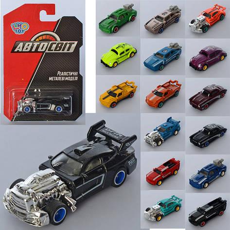 Машина AS-2766 АвтоСвіт, мет., гум. колеса, 16 видів, лист, 10,5-16,5-3,5 см, фото 2