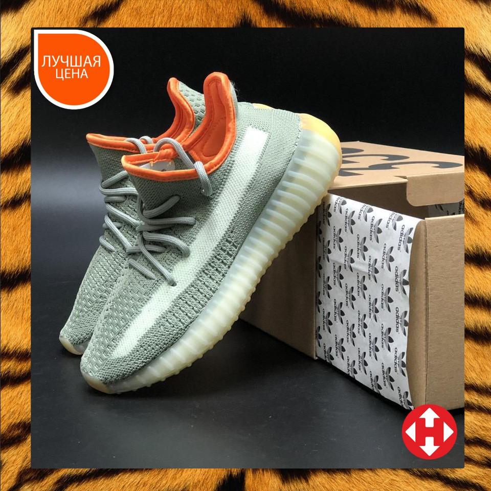 🔥 Кроссовки женские повседневные Adidas Yeezy 350 khaki (адидас изи 350 хаки)