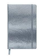 Записная книга блокнот Buromax INGOT 95x140 мм 80 л клетка иск.кожа серебро (BM.29012103-24)