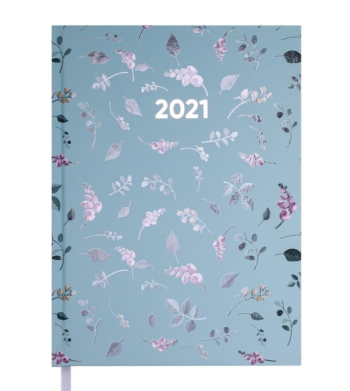 Ежедневник датированный 2021 Buromax PROVENCE A5 бирюзовый 336 стр (BM.2161-06)
