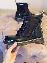 Лаковые ботинки в стиле Dr. Martens Доктор Мартинс женские