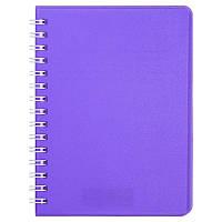 Записна книга блокнот Buromax BRIGHT A6 60 л клітка на пружині (BM.24654155-07)