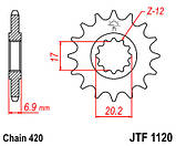 Звезда стальная передняя JT Sprockets JT  JTF1120.13, фото 2