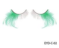 Декоративные подиумные ресницы комбинированные с натуральными перьями Lady Victory LDV EYD-C-02 /0-1