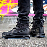 Мужские кроссовки Nike Lunar Force 1 Duckboot Navy/Black (Реплика ААА+), фото 3
