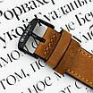 Не звичайний чоловічий годинник Curren 8299 Black-Gold-Brown наручний механічний з арабськими числами, фото 4
