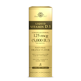 Рідкий Вітамін д3 Solgar Liquid Vitamin D3 5,000 IU (59 мл, апельсин) солгар