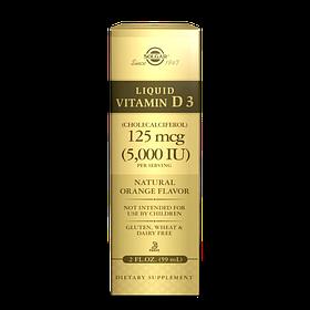Жидкий Витамин д3 Solgar Liquid Vitamin D3 5,000 IU (59 мл, апельсин) солгар