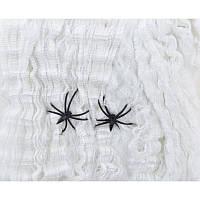 Паутина белая с двумя паучками, 40 г