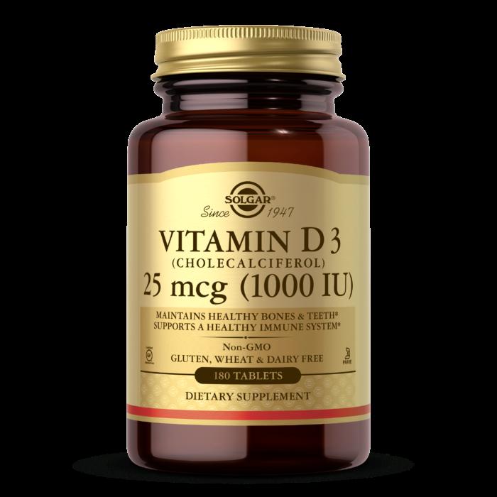 Витамин д3 Solgar Vitamin D3 1000 IU (180 таб) солгар