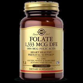 Фолієва кислота Solgar Folate 1333 mcg DFE (Folic Acid 800 mcg) (250 капсул) солгар