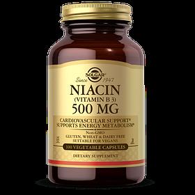 Ніацин Solgar Niacin 500 mg (100 veg caps) солгар
