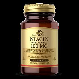 Ніацин Solgar Niacin 100 mg (100 tabs) солгар