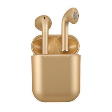 Беспроводные наушники BT inPods 12 Bluetooth 5.0 TWS блютуз гарнитура, Metallic gold