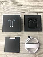Беспроводные Наушники Дизайнерские Apple AirPods 2 with Charging Case Black с черной коробкой
