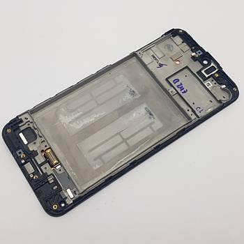Дисплей Samsung M21 (SM-M215) модуль черный Сервисный оригинал с разборки