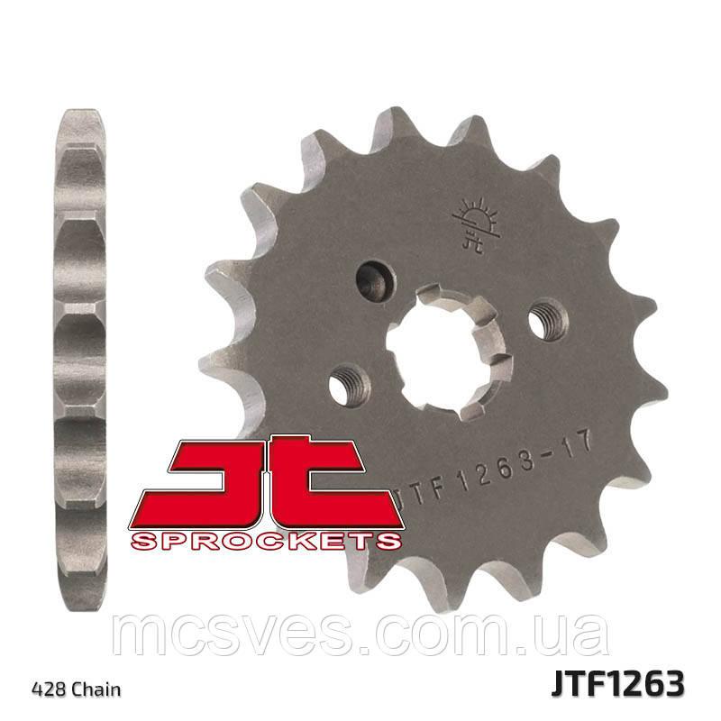 Звезда стальная передняя JT Sprockets   JT JTF1263.14