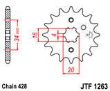 Звезда стальная передняя JT Sprockets   JT JTF1263.14, фото 2