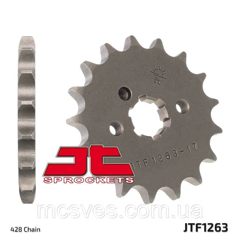 Звезда стальная передняя JT Sprockets   JT JTF1263.15