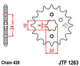 Звезда стальная передняя JT Sprockets   JT JTF1263.15, фото 2