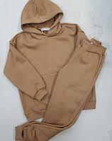 Теплый спортивный костюм оверсайз для девочки кемел