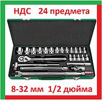 Toptul GCAD2401 6-32мм Набор головок 1 2 торцевых с трещоткой воротком шестигранных, инструмент для автомобиля, фото 1