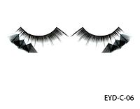 Декоративные подиумные ресницы комбинированные с натуральными перьями Lady Victory LDV EYD-C-06 /0-1