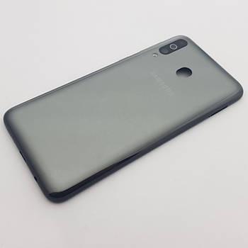 Крышка Samsung A40s (SM-A3050) черная Сервисный оригинал с разборки
