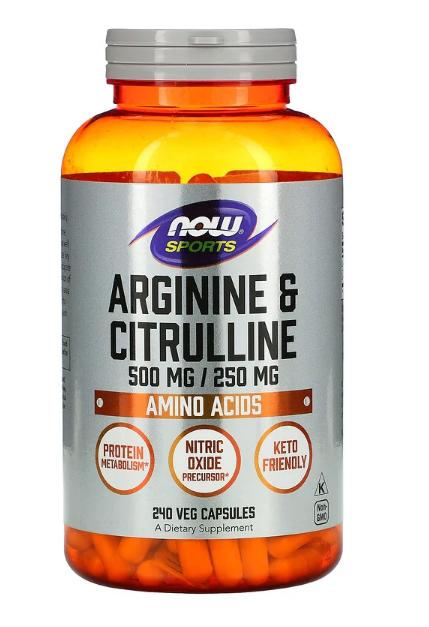Now Arginine & Citrulline 500/250 240 veg caps