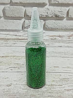 Глиттер (блестки) сыпучий, Зеленый, 40 мл.
