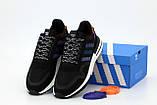 Мужские кроссовки adidas ZX 500 в стиле адидас ЧЕРНЫЕ (Реплика ААА+), фото 5