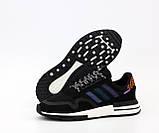 Мужские кроссовки adidas ZX 500 в стиле адидас ЧЕРНЫЕ (Реплика ААА+), фото 4
