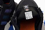 Мужские кроссовки adidas ZX 500 в стиле адидас ЧЕРНЫЕ (Реплика ААА+), фото 7