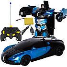 Машинка трансформер Bugatti Robot Car 1:12 DEFORMATION NO:668 радиоуправляемая, фото 2