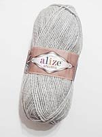 Пряжа Альпака рояль Алізе Alpaca royal Alize, Ализе Альпака роял 100 гр. 250 м  Сірий світлий