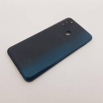 Крышка Samsung M30s (SM-M307) черная Сервисный оригинал с разборки