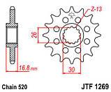 Звезда стальная передняя JT Sprockets   JT JTF1269.16, фото 2