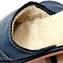 """Домашние кожаные тапочки мужские на овчине """"Polmar"""", фото 3"""