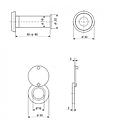 Глазок дверной Apecs 5016/50-90-CR, фото 2
