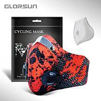 Спортивная маска-респиратор Grorsun с угольным фильтром Анти-смог PM2.5