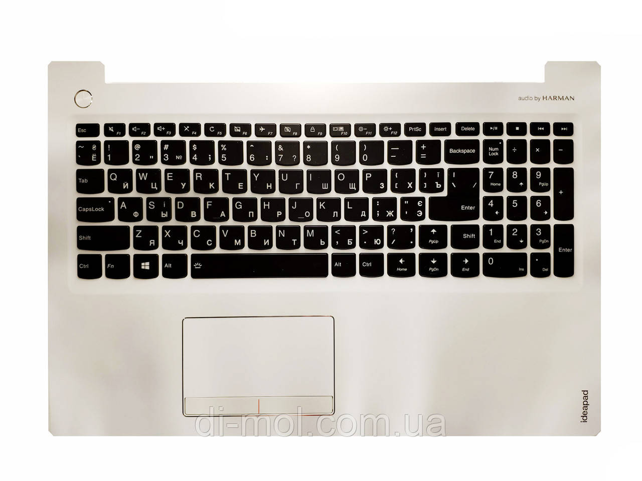 Оригинальная клавиатура для Lenovo IdeaPad 310-15, IdeaPad 510-15 series, black, ua, подсветка