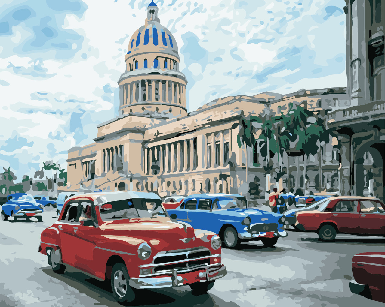 Художественный творческий набор, картина по номерам Яркая Куба, 50x40 см, «Art Story» (AS0859)