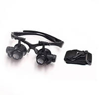 NO.9892G2 лупа-очки бинокулярные c LED подсветкой, 20Х