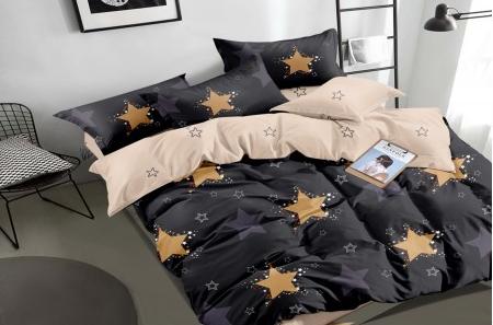 Постельное белье сатин Золотые звезды