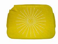 Коврик-дуршлаг для раковины, пластмассовый, цвет - желтый